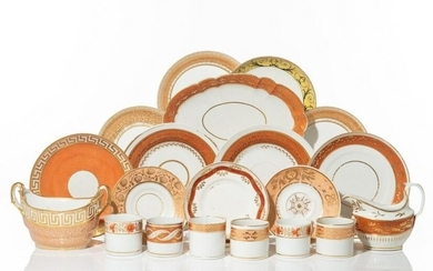 COLLECTION OF ASSORTED REGENCY PORCELAIN DISHES