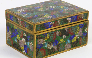 Chinese cloisonn� box