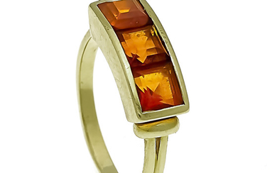 Citrine ring GG 585/000 with 3 facets. Citrine...