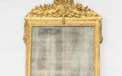 Continental Neoclassical Carved and Gilt-gesso Mirror