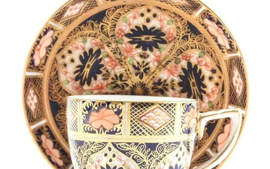 Cup & Saucer Marked Royal Crown Derby, Ca. 1880's