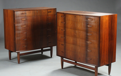 Danish furniture manufacturer. A pair of chest of drawers, rosewood (2)