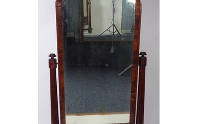 EARLY NINETEENTH CENTURY ROSEWOOD CHEVAL DRESSING MIRROR, th...