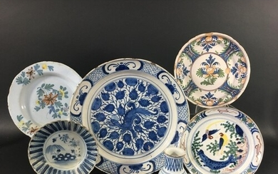 ENGLISH DELFT CHARGER early/mid 18th century, possibly Lambe...