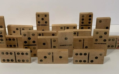 Early 20thc Oversize Dominoes
