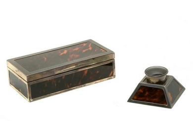 English Sterling Silver Mounted Set of Two Writing Desk