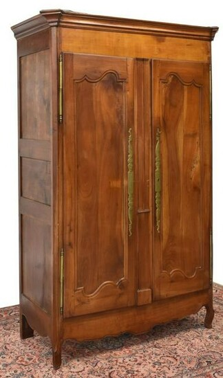 FRENCH PROVINCIAL FRUITWOOD ARMOIRE, 19TH C.