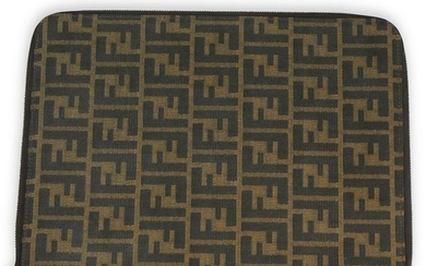 Fendi Brown Zucca Laptop Case