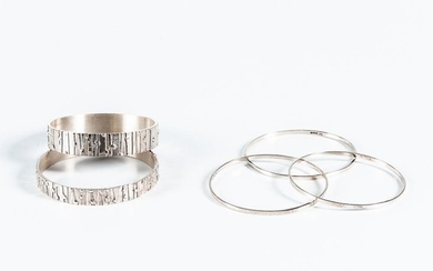 Five Brian Asquith Bangles