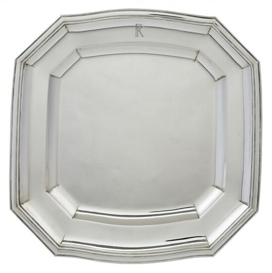 French Sterling Silver Salver