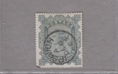 GREAT BRITAIN. SG 131. 10s. wmk ANCHOR, blued paper. Very fine used copy.