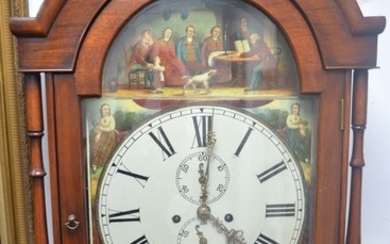 Grandfather clock in mahogany case been well looked after