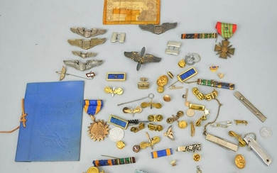 Group of Mostly American Militaria (Medals, Etc.)