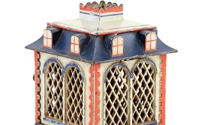 Home Bank Cast Iron Mechanical Bank with Dormers
