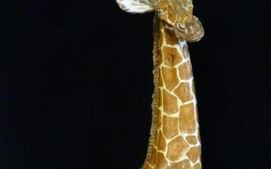 "ITALIAN TERRACOTTA GIRAFFE (REPAIR TO REAR LEG) 36""H"