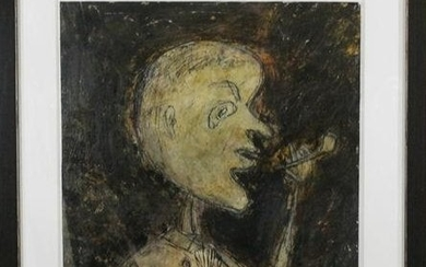 JEAN DUBUFFET [Manner of] Mixed Media 1949