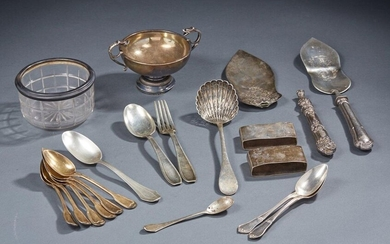 Silver lot, 1st title 950‰, including six teaspoons in gilt...
