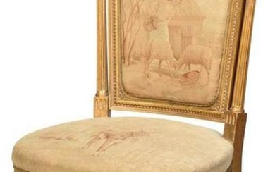 Louis XVI Style Tapestry Upholstered Side Chair