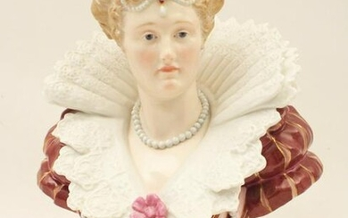 MEISSEN PORCELAIN BUST OF FRENCH NOBLE WOMAN