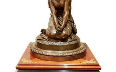 Magnificent Large F. Barbedienne Bronze Statue on