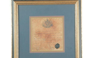 NAPOLEON SIGNED LETTER WITH WAX SEAL.