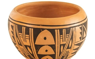 Native American Indian Hopi Signed Bowl Vase Pot