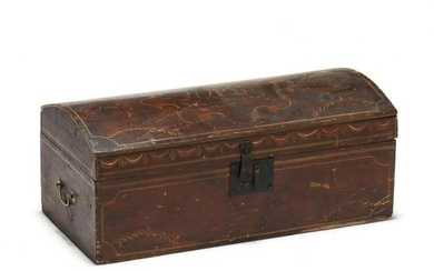 New England Painted Diminutive Dome Top Trunk
