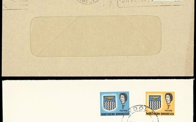 Northern Rhodesia 1963 Arms Definitive Issue Covers A selection to various destinations and wit...