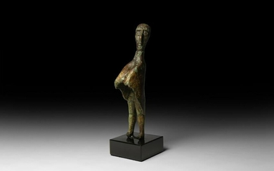 Nuragic Statuette of a Cloaked Tribal Chief