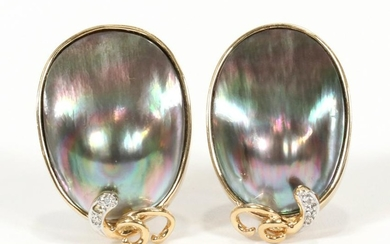 OYSTER PEARLS, DIAMOND, GOLD, EARRINGS