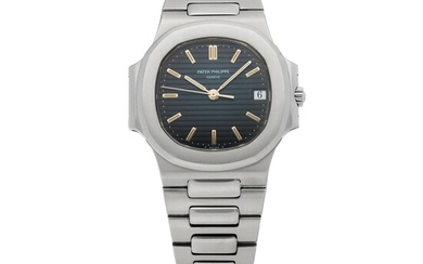 PATEK PHILIPPE | NAUTILUS, REF 3800 STAINLESS STEEL WRISTWATCH WITH DATE AND BRACELET MADE IN 1996