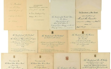 Presidential Dinner Invitations (19th Century)