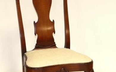 Queen Anne Style Mahogany Side Chair