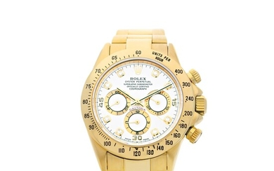 ROLEX | REFERENCE 16528 'ZENITH' DAYTONA A YELLOW GOLD AND DIAMOND-SET AUTOMATIC CHRONOGRAPH WRISTWATCH WITH BRACELET, CIRCA 1997