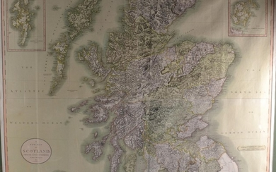 STUNNING and rare to find ! Large framed SCOTLAND map by JOH...
