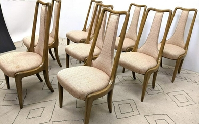 Set 8 Tall Back Decorator Dining Chairs. Upholstered T