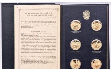 """""""The Churchill Centenary Medals"""" being a set of 24 gold pla..."""