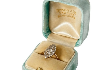 Tiffany & Co. Victorian yellow gold and Old European cut diamond ring size: 4