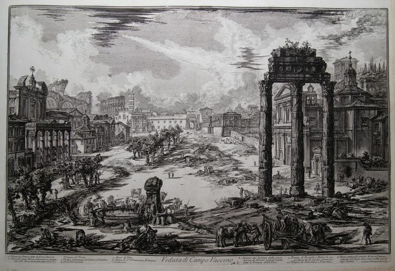 VIEW OF THE FORUM ROMANUM OR CAMPO VACCINO, Year 1772