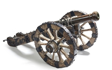 Very nice and large model of a princely cannon, model number