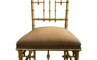 Victorian Style Faux-Bamboo Side Chair Mid-20th Centur