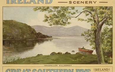 WALTER TILL (DATES UNKNOWN). IRELAND / FOR ENTRANCING SCENERY. Circa 1925. 29x39 inches, 75x101 cm.