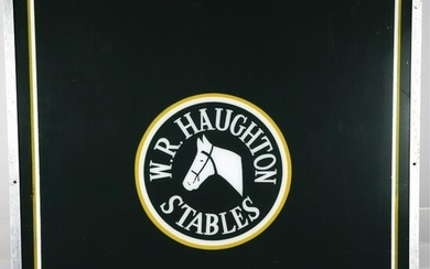 W.R. HAUGHTON STABLES SIGN