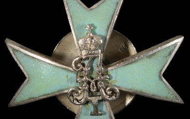 WWI RUSSIAN MILITARY MEDAL IN ENAMELED SILVER