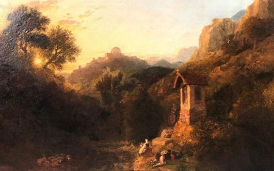 William HAVELL (1782 - 1857) attr. ''The Roadside Cross