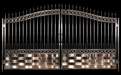 Wing portal, chrome-plated stainless steel, decorative elements...