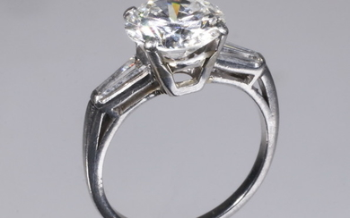 14K GOLD SOLITAIRE DIAMOND RING