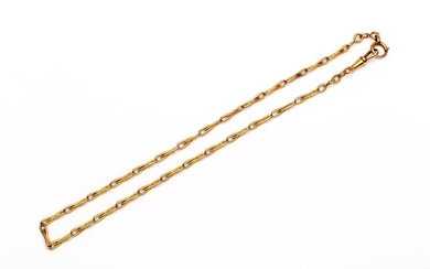 14krt. Rose gold watch chain, with fantasy links,...