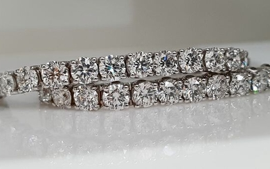 18 kt. White gold - Bracelet - 12.38 ct Diamond - VVS-VS
