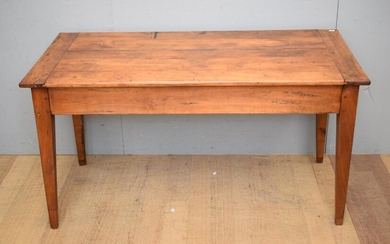 18TH CENTURY FRENCH FRUITWOOD FARMHOUSE TABLE, C.1880'S (H73 X W138 X D68 CM) (LEONARD JOEL DELIVERY SIZE: LARGE)